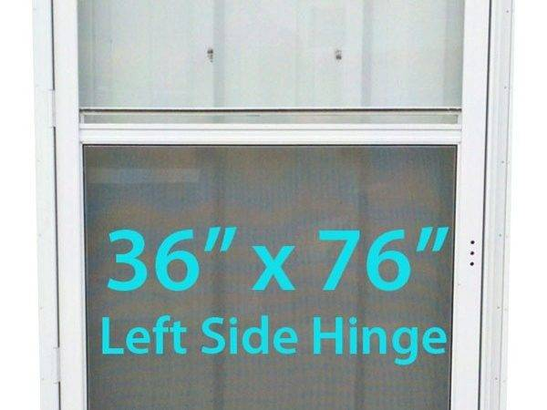 Mobile Home Standard Storm Door White Screen