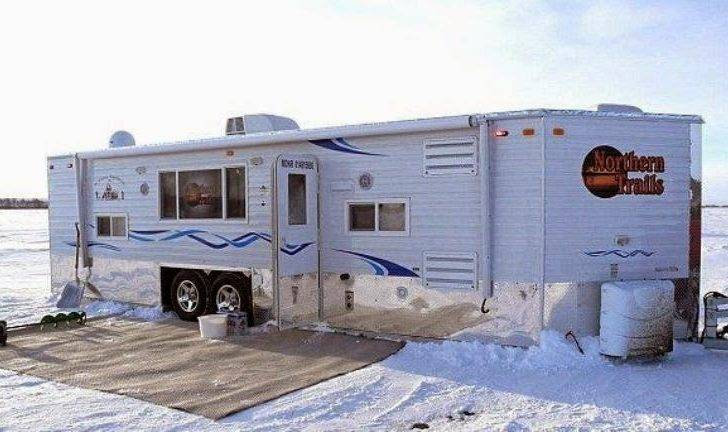 Mobile Home Winter Fishing Ice Photos