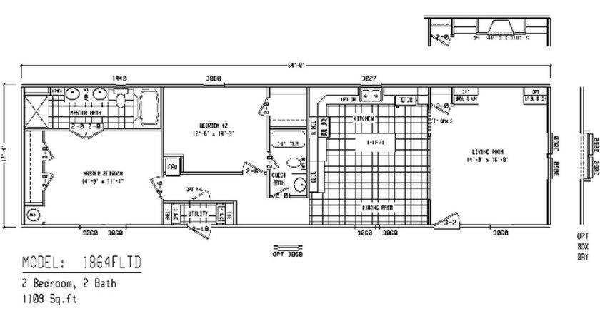 Mobile Homes Floor Plans Single Wide