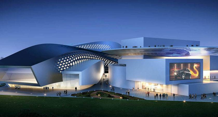 Modern Green Architecture Shopping Centers