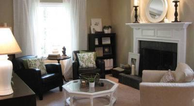 Modern Home Interior Design Small Living Room Fireplace