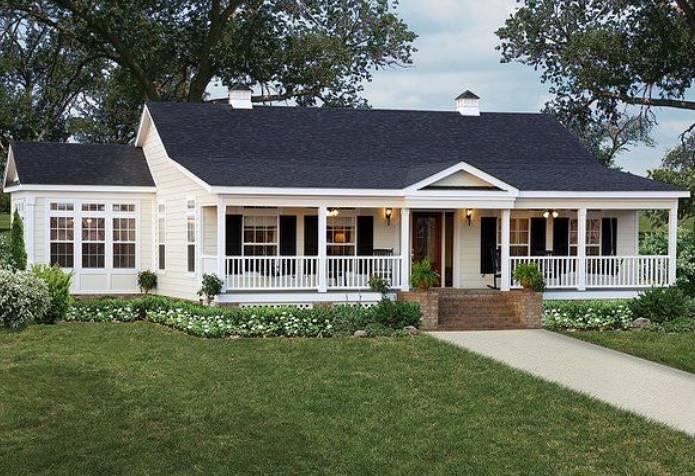 Modular Home Floor Plans Wrap Around Porch Wooden