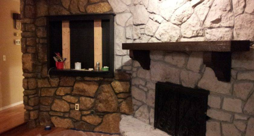 Mrs Frog Prince Stone Fireplace Makeover