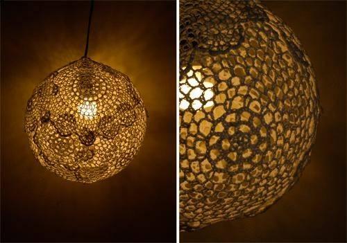 Myhobbyshop Diy Tutorial Doily Pendant Lamp