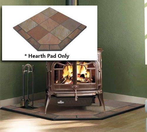Natural Bone Slate Single Cut Corner Hearth