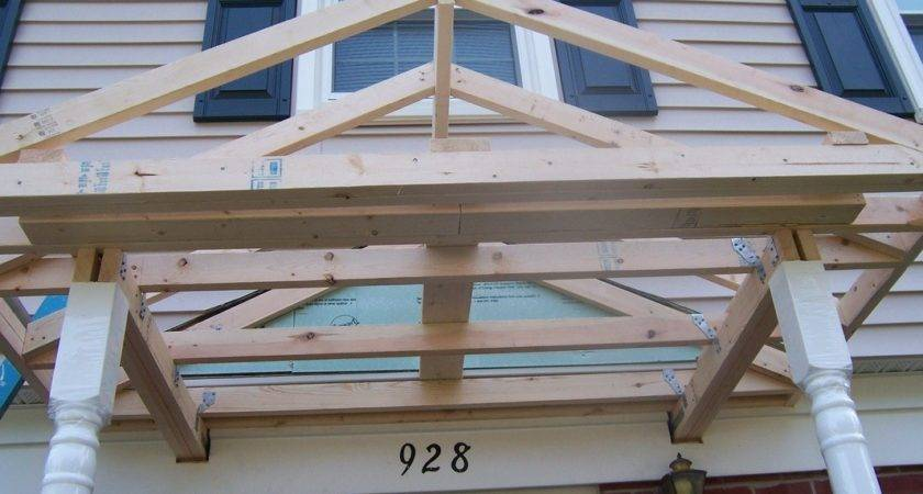 New Porch Roof Construction Karenefoley