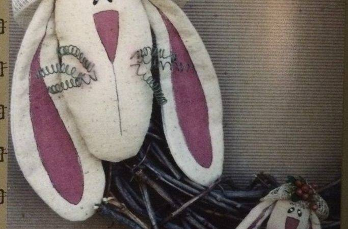 New Primitive Sewing Pattern Bunny Pin