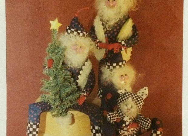 New Primitive Sewing Pattern Groovy Santa Cool Cat