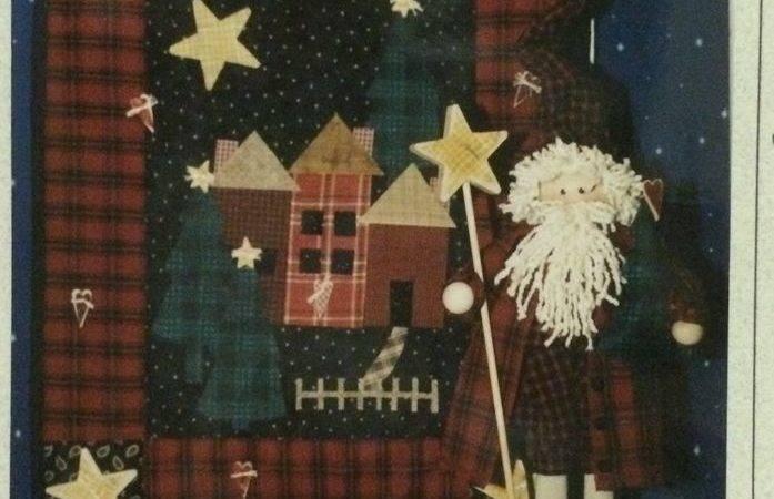 New Primitive Sewing Pattern Star Brite Santa