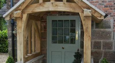 Oak Porch Doorway Wooden Canopy Entrance Self