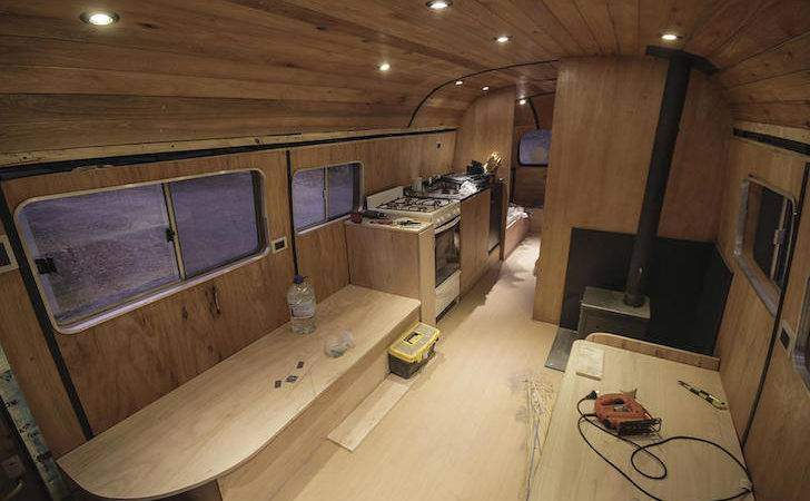 Old Mercedes Benz Bus Turned Into Mobile Ski Lodge