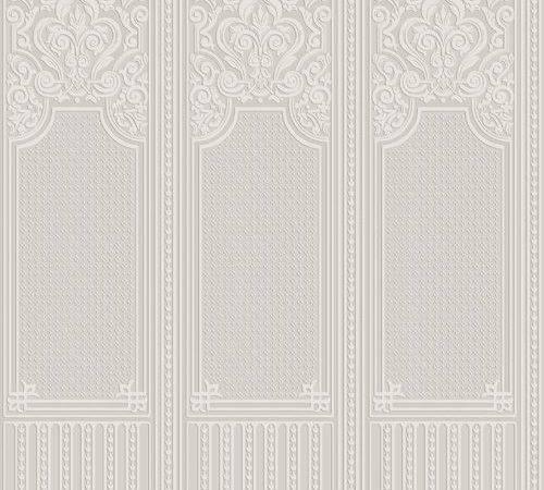 Oriental Dado Panel Anaglypta Paintable White