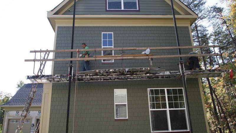 Outdoor Install Hardiplank Siding