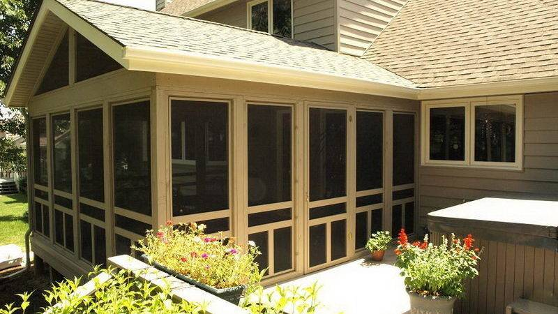 Outdoor Screened Patio Designs Living