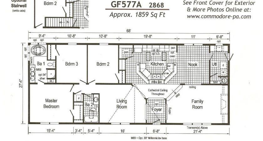 Outstanding Bedroom Double Wide Mobile Home Floor Plans