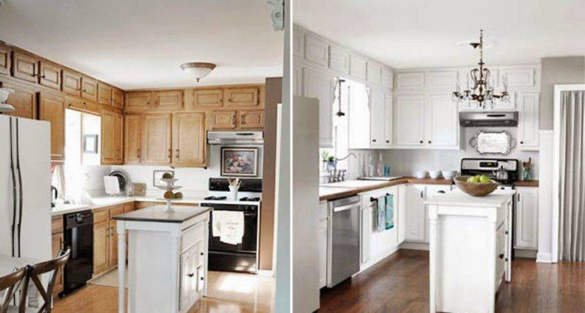 Paint Kitchen Cabinets White Before After Home