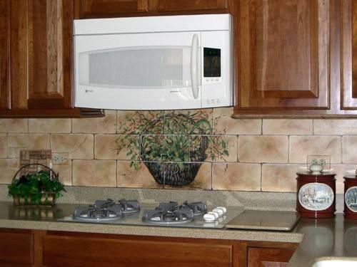 Painted Kitchen Backsplash Hand