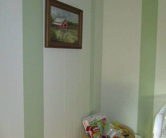 Painted Stripes Wood Paneling