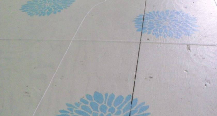 Painted Subfloor Creative Notions