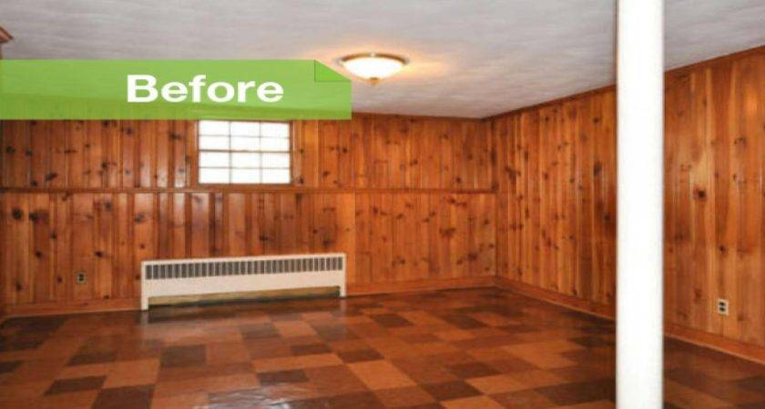 Painted Wood Paneling Before After Pics