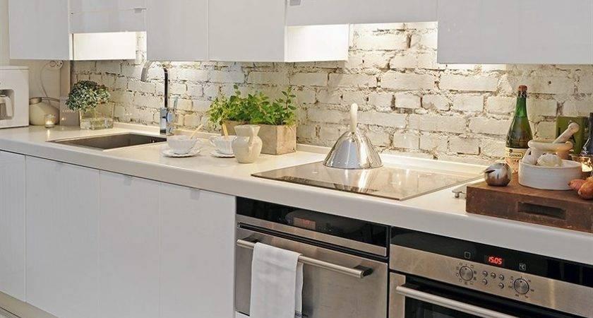 Painting Brick Backsplash Kitchen Kitchentoday
