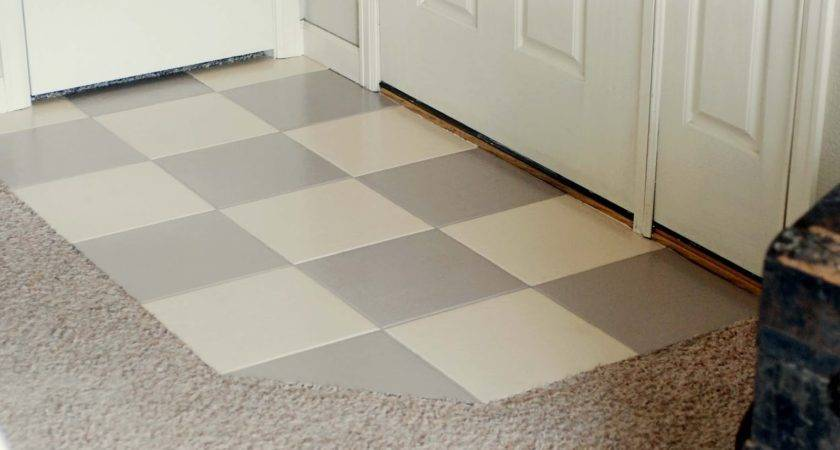 Painting Over Tile Floor Bathroom Room Design Ideas