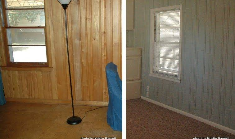 Painting Over Wood Paneling Before After