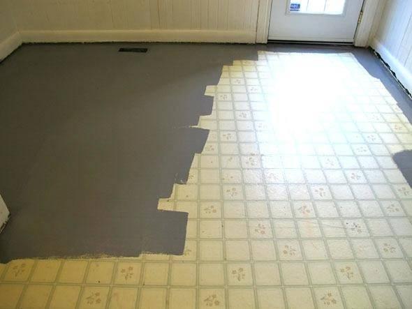 Painting Vinyl Floor Novic