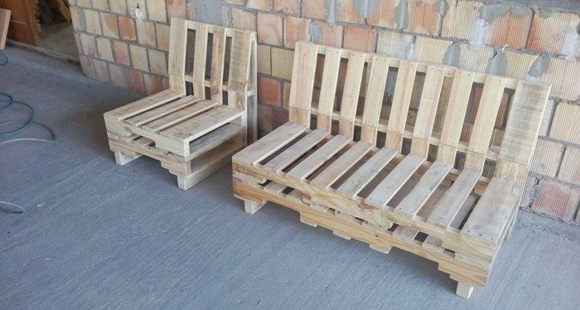 Pallet Benches Top Patio Bench
