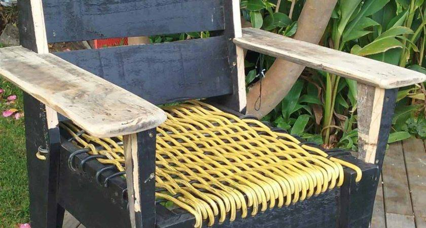 Pallet Chair Woven Power Cord Seat Pallets
