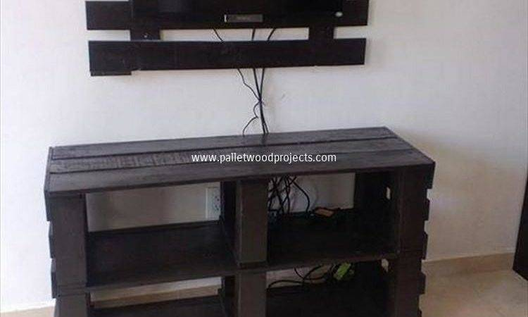 Pallet Media Console Tables Stands Wood Projects