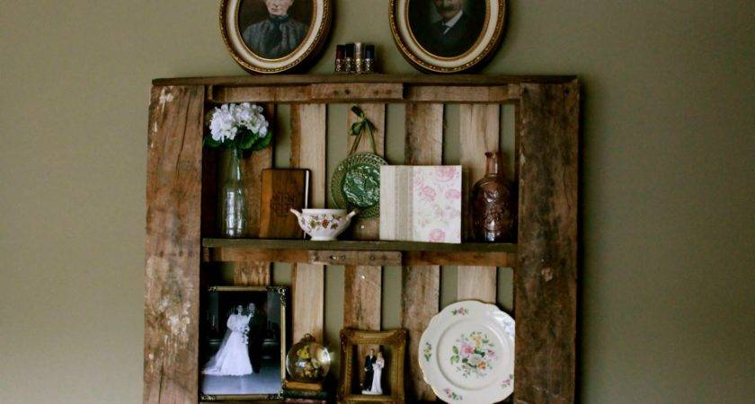 Pallet Shelf Great Ideas Creat Craft Ivity Pinterest