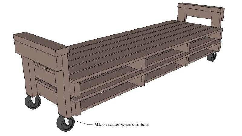 Pallet Sofa Plans Instructions Build Diy
