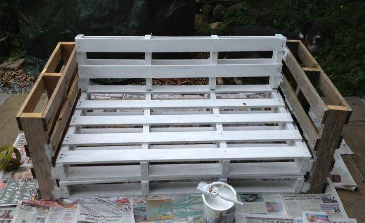 Pallet Sofa Secure All Pieces Together Paint