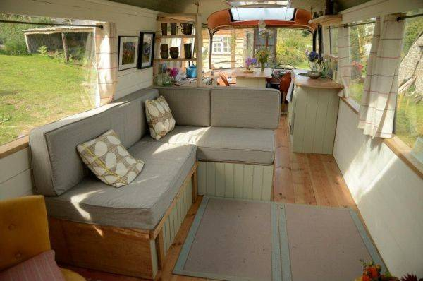 Panoramic Bus Converted Into Beautiful Unique Living Space