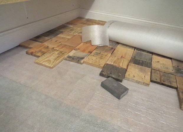 Pantry Floor Made Out Pieces Various Types Pre