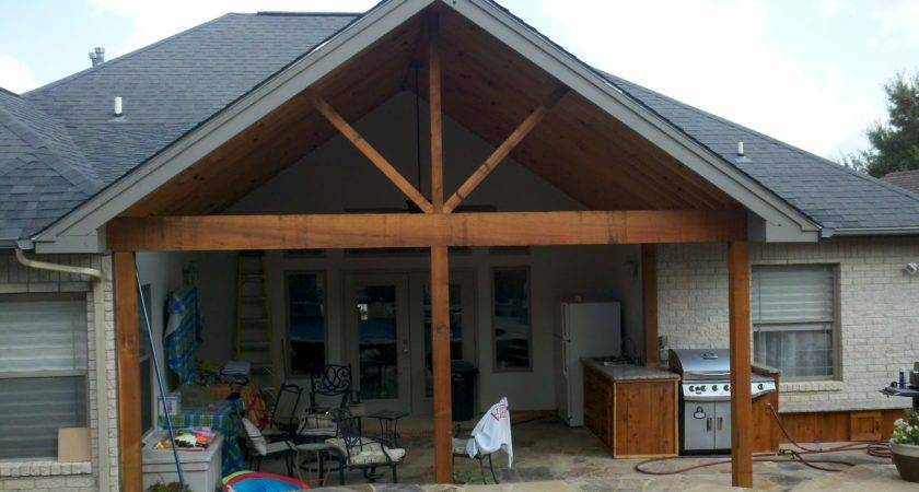 Parker Homes Renovations Covered Porch Outdoor Kitchen