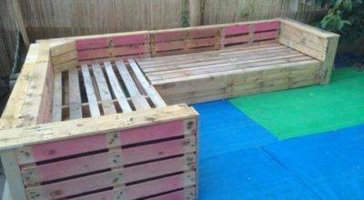 Patio Garden Corner Seating Pallets Pallet Ideas
