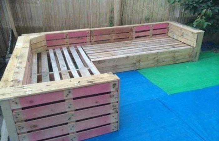 Patio Garden Corner Seating Pallets Pallet Ideas