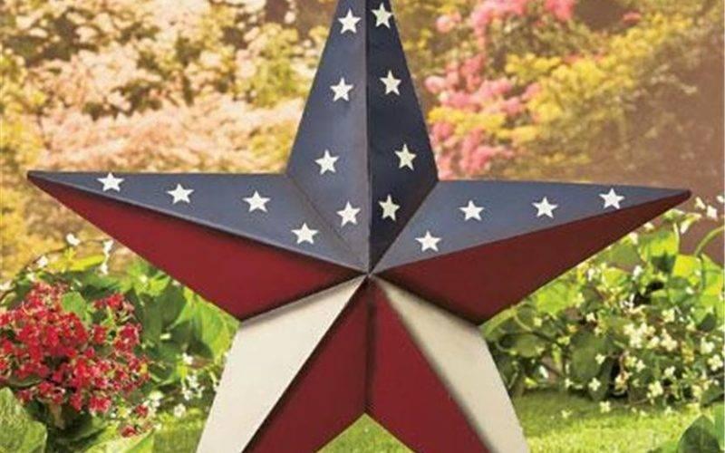 Patriotic Americana Large Scale Barn Star Home Decor