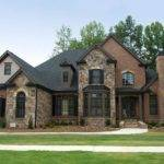 Photos Houses Brick Stone Combinations