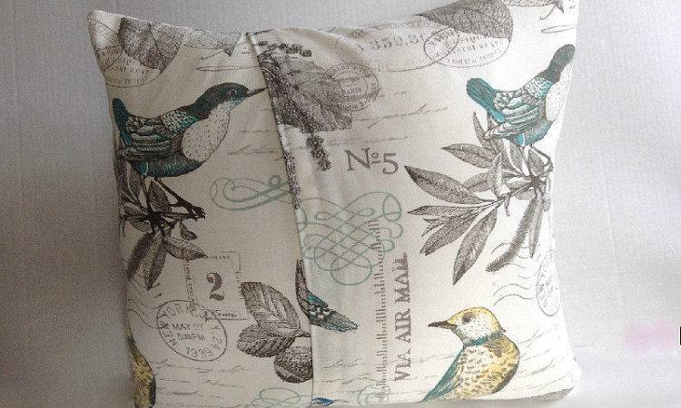 Pillow Covers Home Decor Bird Cover Blue Aggieray