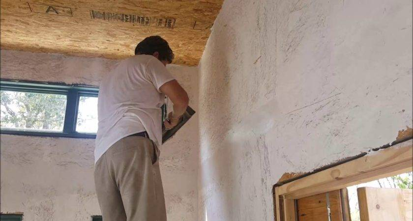 Plastering Painting Osb Walls Houses Built Tiny Way