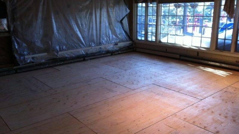 Plywood Subfloor Over Concrete Floor Installing Engineered