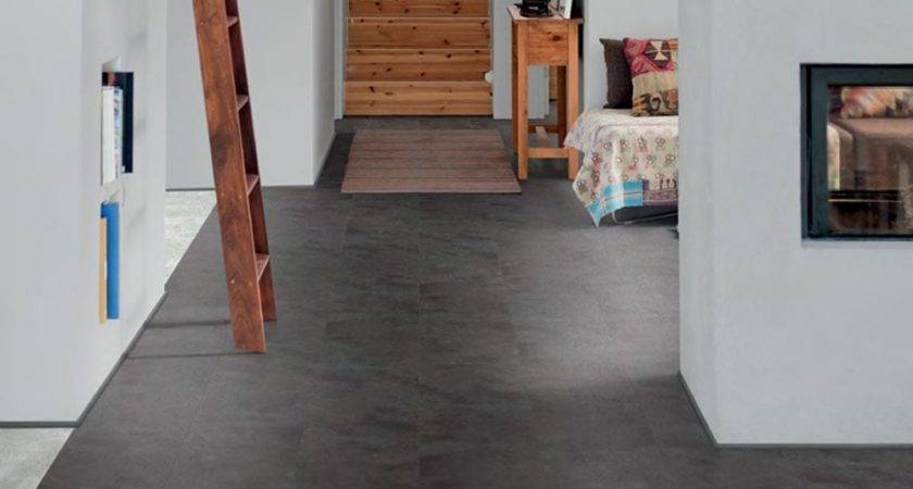 Polyflor Camaro Loc Fit Vinyl Tiles Black Shadow