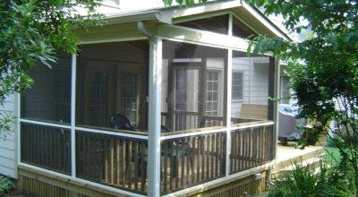 Porch Ideas Grasscloth