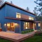 Post Modern Decor Modular Home Exterior Color Combination