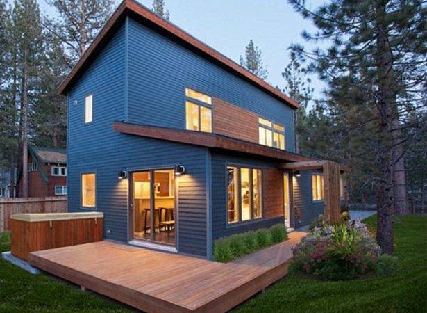 Post Modern Decor Modular Home Exterior Color Combination