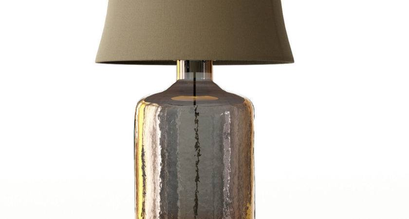 Pottery Barn Clift Glass Table Lamp Base Espresso