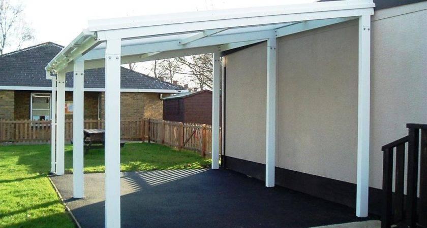 Powder Coated Aluminium Standing Canopy Lean